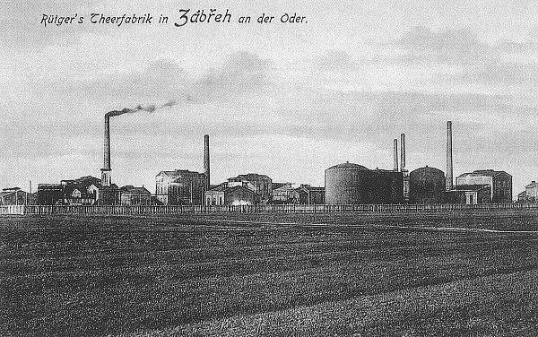 RÜTGERS. Jedním znejvětších chemických podniků vOstravě byla Rütgersova továrna na dehet, asfalt, benzen a benzol.