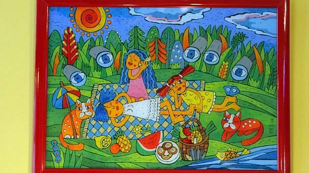 Z výstavy Šárky Mrvové v Sedmém nebi v Ostravě