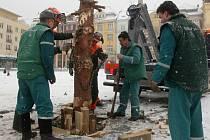 Vánoční strom zmizel z Masarykova náměstí