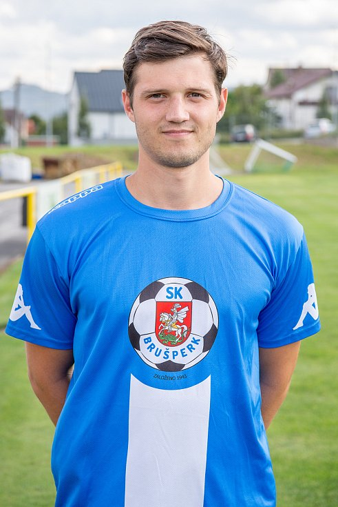 Fotbalový klub - Spolek SK Brušperk, 26. srpna 2020 v Brušperku. Petr Zajac (obránce)