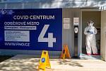 Covid centrum ve Fakultní nemocnici Ostrava. Ilustrační foto.