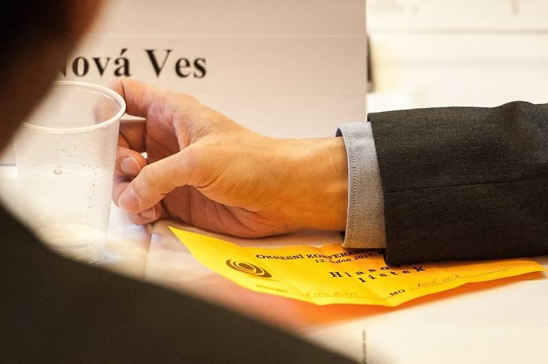 Okresní konference ČSSD v Ostravě, hlasovací lístek.