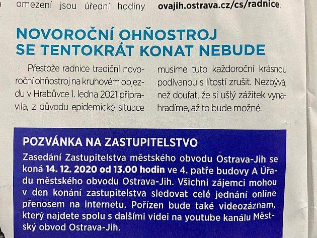 Zprosincového vydání Jižních listů.