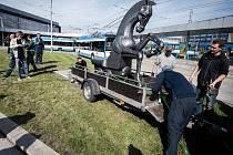 Socha koně s důlním vozíkem se vrátila do Ostravy