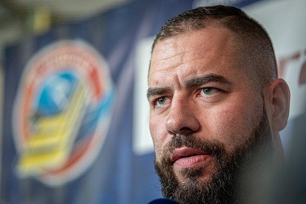 Hokejový tým HC Vítkovice Ridera představil nového hráče Romana Poláka, 15.června 2020vKlimkovicích.