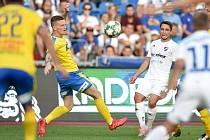 Utkání 3. kola první fotbalové ligy: FC Baník Ostrava - FK Teplice, 26. července 2019 v Ostravě. Na snímku Adam Jánoš.