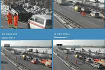 Dopravní nehoda na D1 u Bravantic.