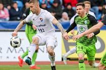 Utkání 25. kola první fotbalové ligy: FC Baník Ostrava - FK Mladá Boleslav, 16. března 2019 v Ostravě. Na snímku (zleva) Martin Fillo, Tomáš Přikryl.