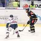 Utkání 26. kola hokejové extraligy: HC Vítkovice Ridera - HC Verva Litvínov, 9. prosince 2018 v Ostravě. Na snímku (zleva) Rastislav Dej, Mathias Porseland.
