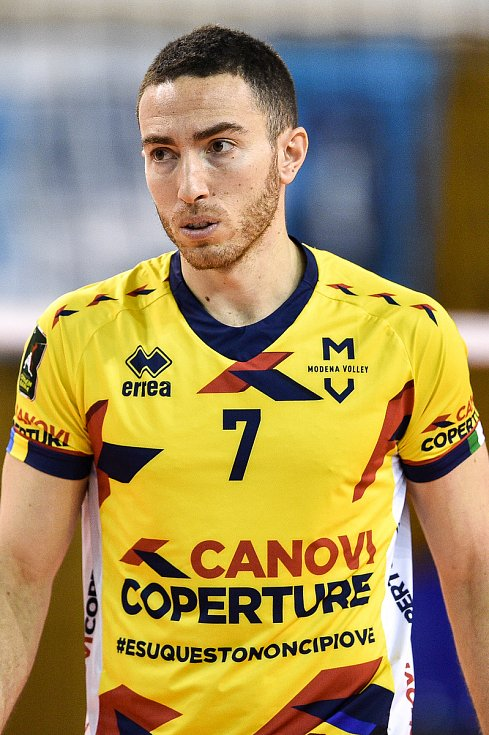 Zápas CEV Volleyball Cup 2020, VK Ostrava - Leo Shoes Modena, 12. února 2020 v Ostravě. Salvatore Rossini z Modeny.