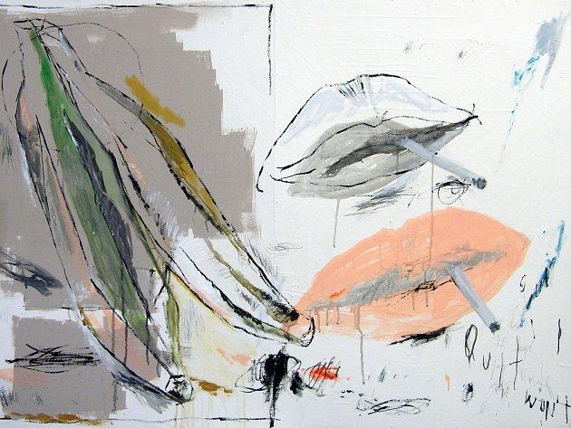 Ukázka z tvorby autora, obraz nazvaný Banana.