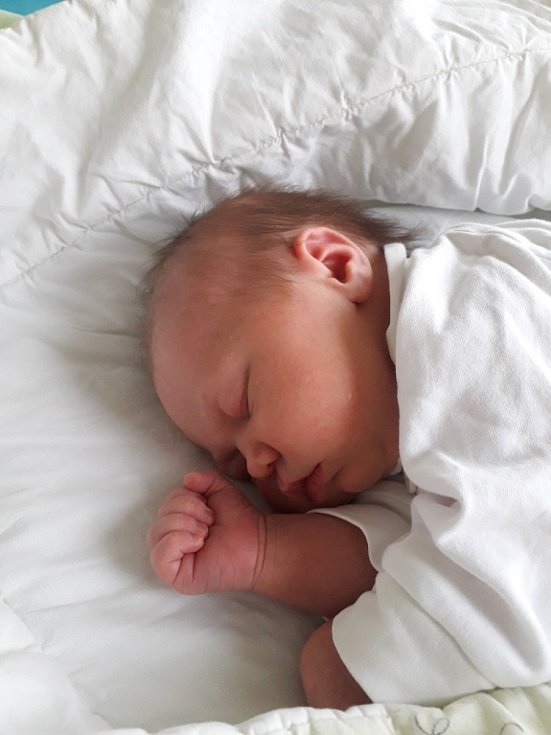 Lucie Zedníková z Orlové, narozena 17. dubna 2021 v Havířově, míra 50 cm, váha 3660 g. Foto: Michaela Blahová