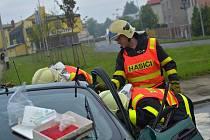 Vážná dopravní nehoda v Ostravě-Hrabůvce.