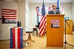 Nově otevřená pobočka Amerického centra (American Corner Ostrava), 20. zaří 2019 v Ostravě. Na snímku americký velvyslanec Stephen B. King.