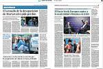 Světové média kde byla fotografie ze střelby ve FNO, noviny zde dne 11. prosínce 2019. Na snímku španělské noviny Diario de Sevilla.