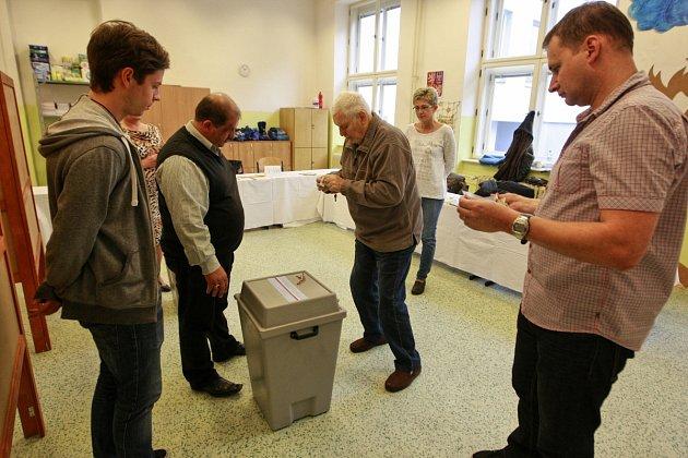 Volby 2016vOstravě, první volební den - pátek 7.října.