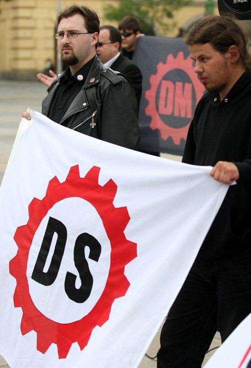 Mítink Dělnické strany v Ostravě