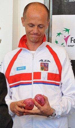 Los semifinále Fed Cupu mezi Českou republikou a Itálií vOstravě.
