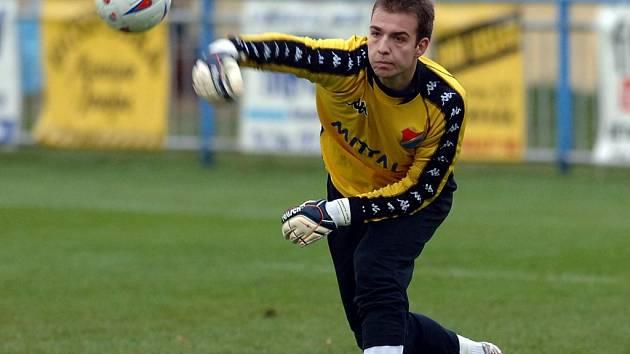 Parádní výkon podal ve Zlíně brankář Baníku Antonín Buček, který byl velkou oporou svého týmu.