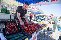 Ekologické nakupování nejen domácích produktů do vlastních přinesených tašek a obalů si získává stále větší popularitu na trzích i v kamenných obchodech v celém Česku. Ilustrační fotografie.