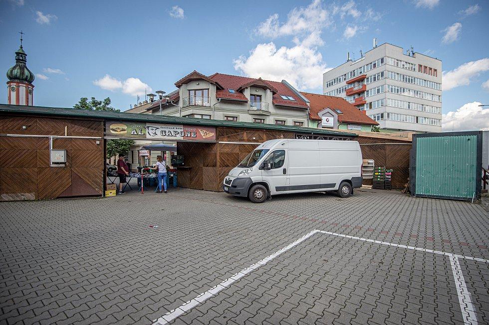 Místo vraždy - Antonínovo náměstí, 25. srpna 2020 ve Frýdku-Místku.