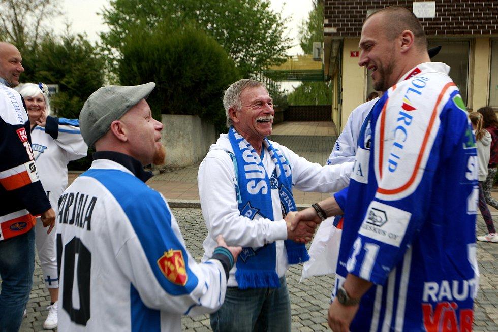 V roce 2015 se sešel v Klimkovicích s finskými fanoušky. V dresu HPK Hämeenlinna získal v letech 1999 a 2000 dva bronzy. Foto: Deník/archiv