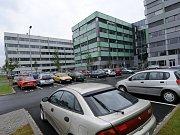 Tři budovy kancelářského komplexu Orchard v Ostravě-Fifejdách