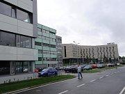 Tři budovy kancelářského komplexu Orchard Office Park v Ostravě.