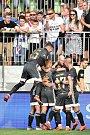 Utkání 2. kola první fotbalové ligy: MFK Karviná - Baník Ostrava, 22. července 2019 v Karviné. Na snímku (střed) Tomáš Smola.
