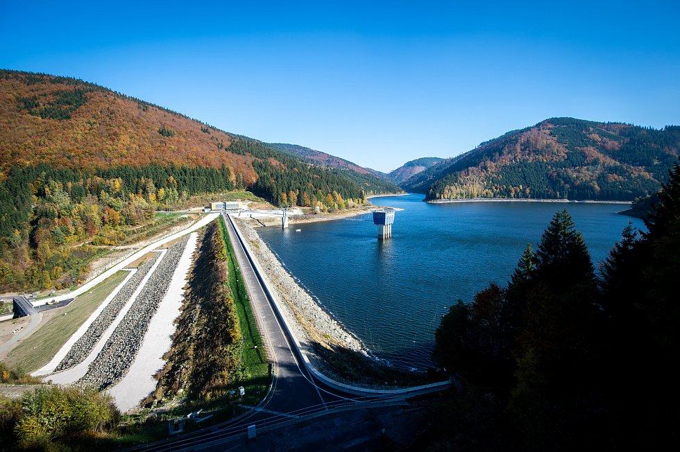 Vodní nádrž Šance, říjen 2018. Ilustrační foto.