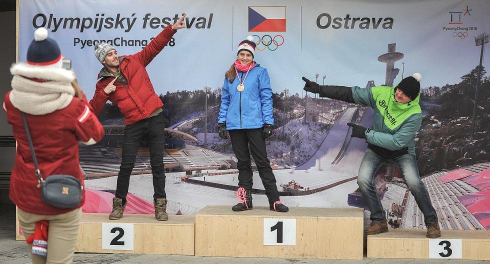 Olympijský festival u Ostravar Arény 23. února 2018 v Ostravě.