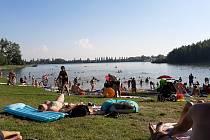 Kališovo jezero v Bohumíně, sobota 8. srpna 2020.
