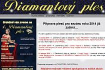 Úvodní stránka webu www.diamantovyples.cz před jejich rekonstrukcí.