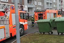 Zásah hasičů v ulici Varenské v Moravské Ostravě.
