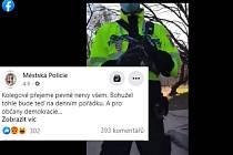Záběr z videa na sociální síti Facebook.
