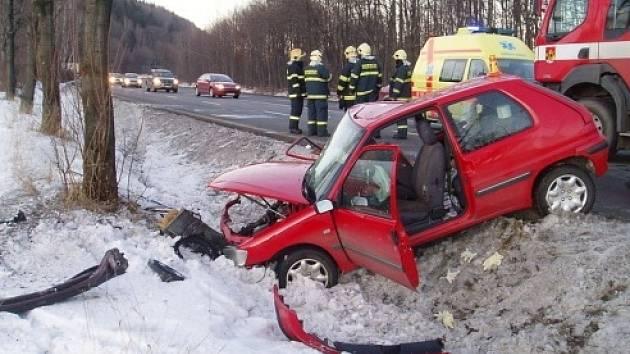 Hasiči asistovali při tragické nehodě u Frýdlantu nad Ostravicí