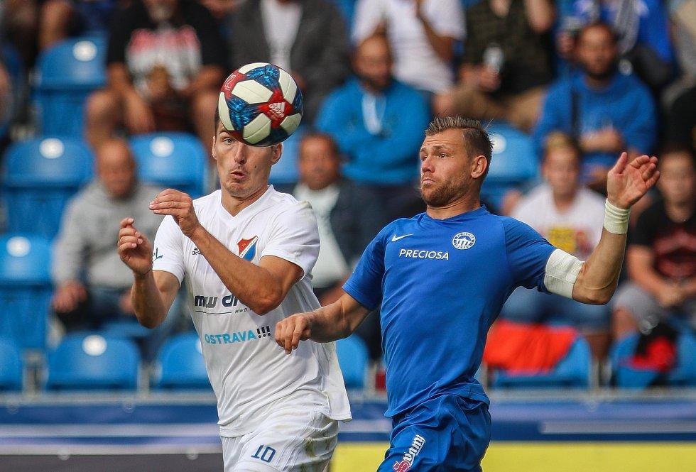 Utkání 1. kola první fotbalové ligy: FC Baník Ostrava - FC Slovan Liberec, 13. července 2019 v Ostravě. Na snímku (zleva) Robert Hrubý, Radim Breite.