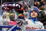 45. kolo hokejové extraligy mezi HC Vítkovice Ridera - HC Dynamo Pardubice v Ostravě dne 14. února 2020. Fanoušek Vítkovic.