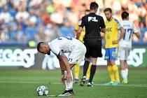 Utkání 3. kola první fotbalové ligy: FC Baník Ostrava - FK Teplice, 26. července 2019 v Ostravě. Na snímku Milan Baroš který neproměnil penaltu.