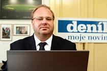 Miroslav Novák v redakci Deníku