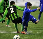 Fotbalisté Baníku Ostrava (v modrém) porazili Petřkovice 5:0.