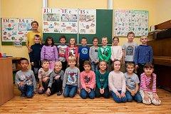 Prvňáčci ZŠ Formana Ostrava-Dubina, třída 1.B, třídní učitelka Jarmila Kaplanová