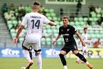 Utkání 1. kola fotbalové Fortuna ligy: MFK Karviná - FC Baník Ostrava, 23. srpna 2020 v Karviné. Ondřej Šašinka z Ostravy.