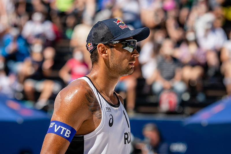 J&T Banka Ostrava Beach Open - semifinále muži, 6. června 2021 v Ostravě. Viacheslav Krasilnikov (RUS).