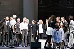 Představení Jesus Christ Superstar před katedrálou Božského Spasitele v centru Ostravy v podání herců Národního divadla moravskoslezského, které se konalo v rámci 8. ročníku mezinárodního křesťanského festivalu Slezská lilie.