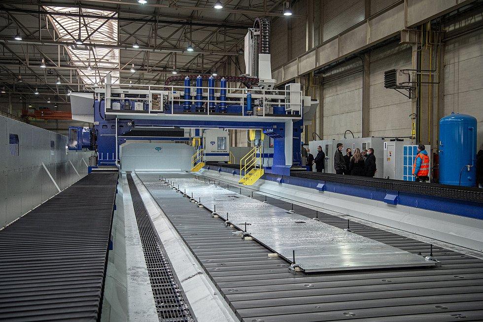 Největší obráběcí centrum v Evropě začalo sloužit v ostravské společnosti Škoda Vagonka, 17. ledna 2021 v Ostravě.