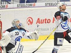 NEPRŮSTŘELNÝ. Gólman Plzně Alexandr Hylák při své letošní extraligové premiéře přispěl čistým kontem k výhře 2:0 na ledě Vítkovic.