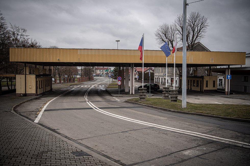 Hraniční přechod s Polskem, 27 února 2021 ve Starém Bohumíně.