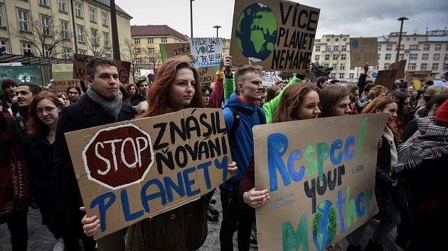 Demonstrace studentů v Ostravě a dalších městech