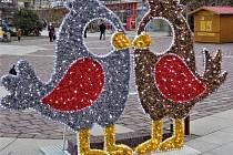 Velikonoční výzdoba na Horním a Dolním náměstí v Opavě.